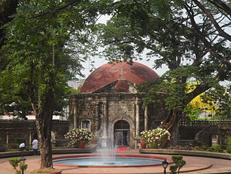 Paco Park - St. Pancratius Chapel at the rear of the park