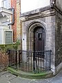 St Bartholomew-the-Great gatehouse door, City of London, England 02.jpg