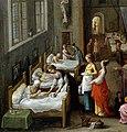 St Elizabeth visiting a hospital. Wellcome V0017201.jpg