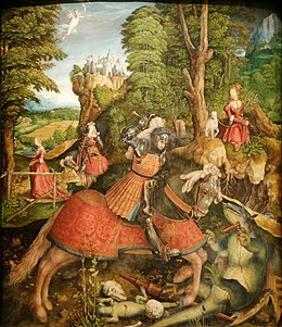 St George fighting the dragon Leonhard Beck.jpg