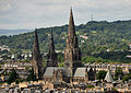 St Mary's Cathedral from Edinburgh Castle.jpg