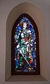 Stained glass window in the Galyatető Roman Catholic church with Saint Emeric.jpg