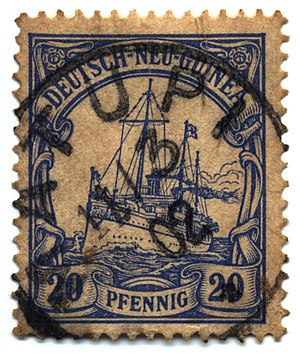 "German New Guinea - 20-pfennig ""Yacht"", postmarked Matupi, 11 March 1902"