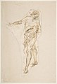 Standing Male Figure with Right Arm Extended (recto); Seated Male Figure (verso) MET DP809172.jpg