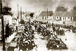 Kielce Ghetto - Liquidation of the Kielce Ghetto; roundup at Starowarszawska Street