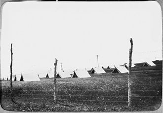 Lytton Quarantine Station - Tents erected at the Lytton Quarantine Camp, 1919