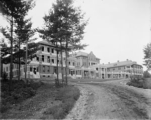 Adirondack Correctional Facility - Construction of the State Sanatorium at Ray Brook, sometime between 1905 and 1920