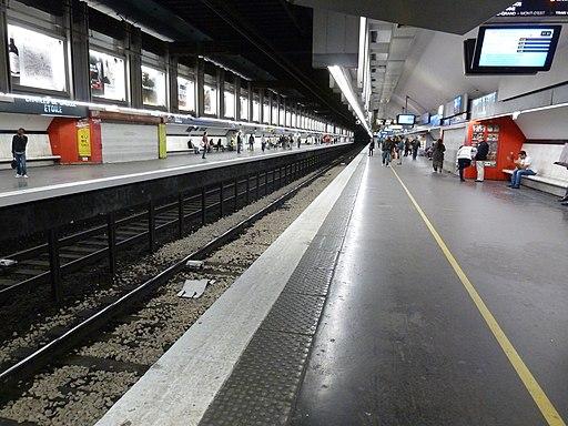Station Etoile du RER A à Paris, avril 2015