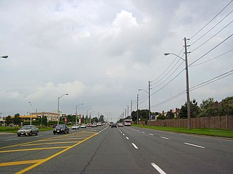 Steeles Avenue - Steeles Avenue, near its intersection with Warden Avenue.