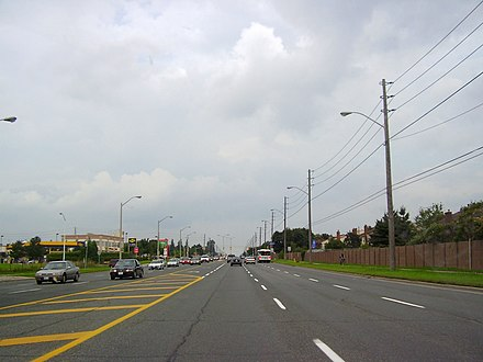 Steeles Avenue Near Its Intersection With Warden