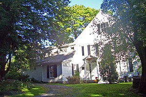 Main house at Steepletop Farm, home of Edna St...