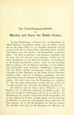 Zur Entstehungsgeschichte der Märchen und Sagen der Brüder Grimm