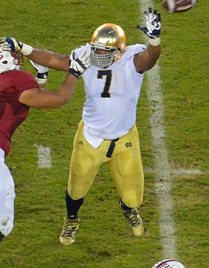 Stephon Tuitt - Tuitt during his tenure with Notre Dame.