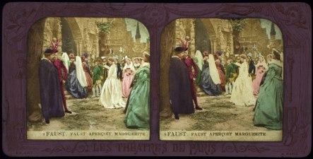 Stereokort, Faust 2, Faust apercoit Marguerite - SMV - S26b.tif