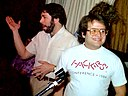 Steve Wozniak and Andy Hertzfeld 1985.jpg