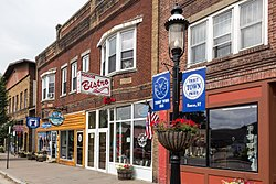 Stewart Avenue is the main street of Roscoe