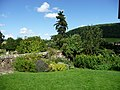 Stokesay Castle, garden and view beyond - geograph.org.uk - 1507202.jpg