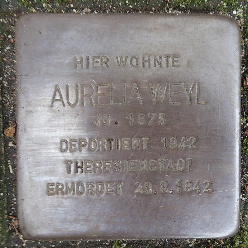 Stolperstein für Aurelia Weyl