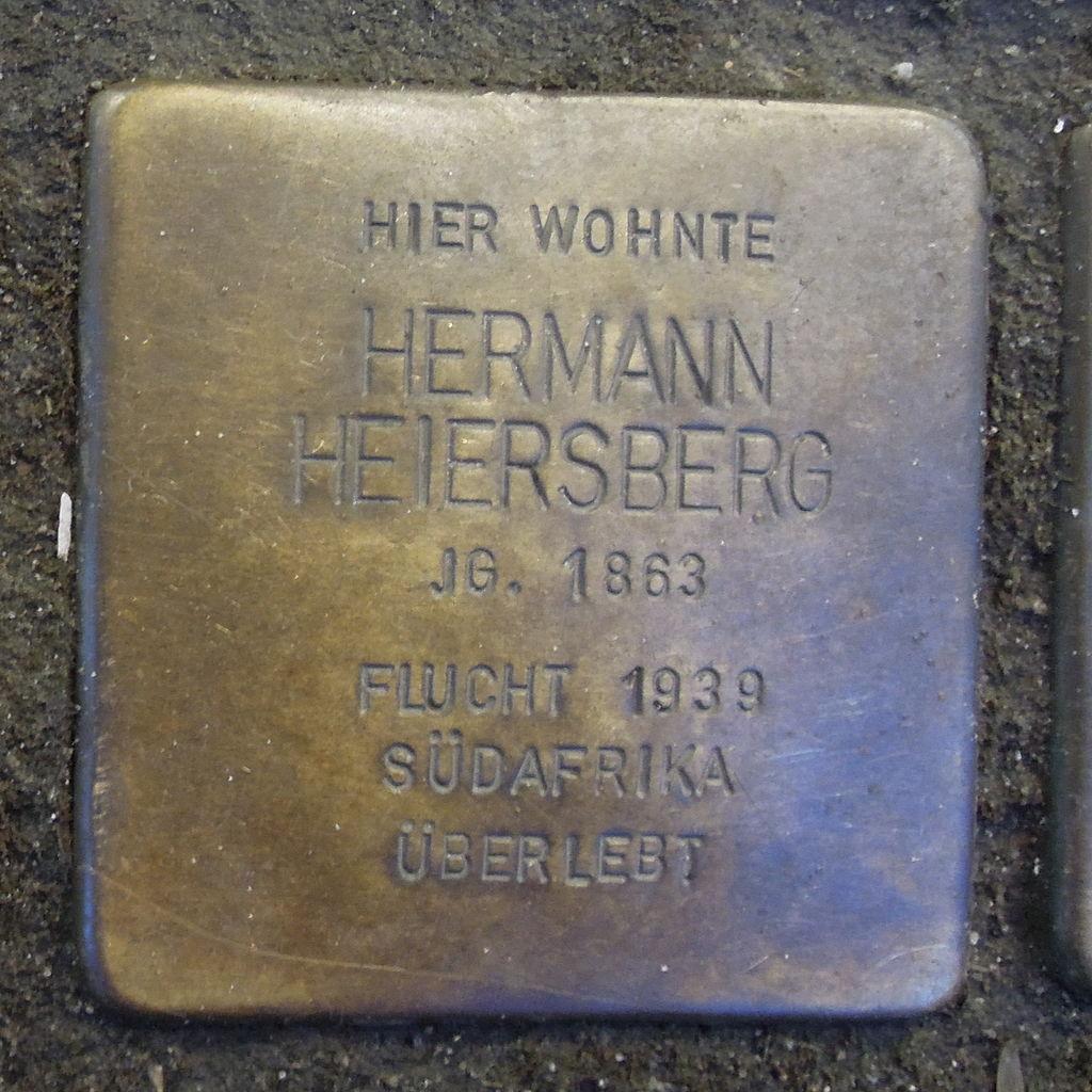 Stolperstein für Hermann Heiersberg