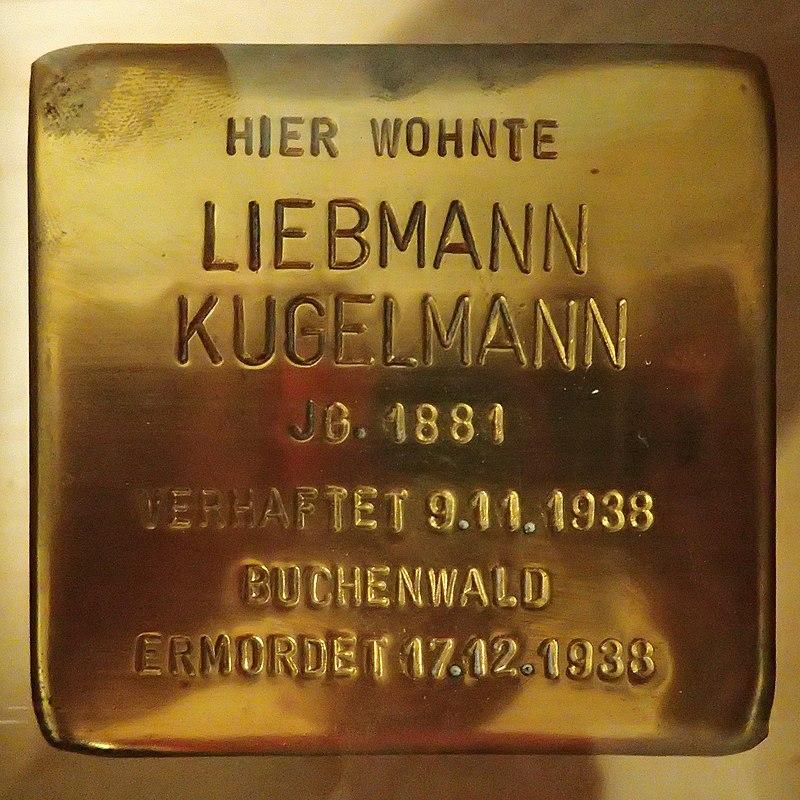 Stolperstein für Liebmann Kugelmann