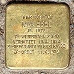 Stolperstein Hindenburgdamm 118 (Lifel) Max Ebel.jpg