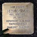 Stolperstein Hindenburgdamm 11 (Lifel) Hedwig Simon.jpg