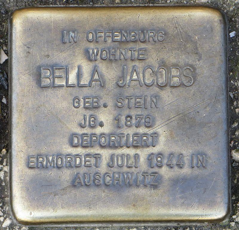 Stolperstein Offenburg Bella Jacobs.jpg