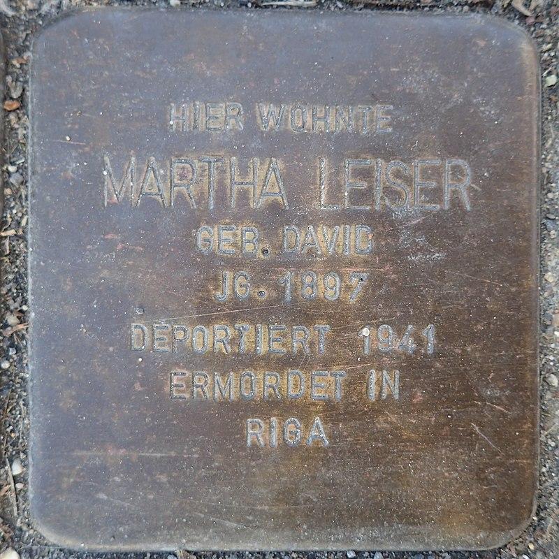Stolperstein Rheurdt Rathausstraße 27 Martha Leiser