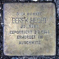 Photo of Berek Hecht brass plaque
