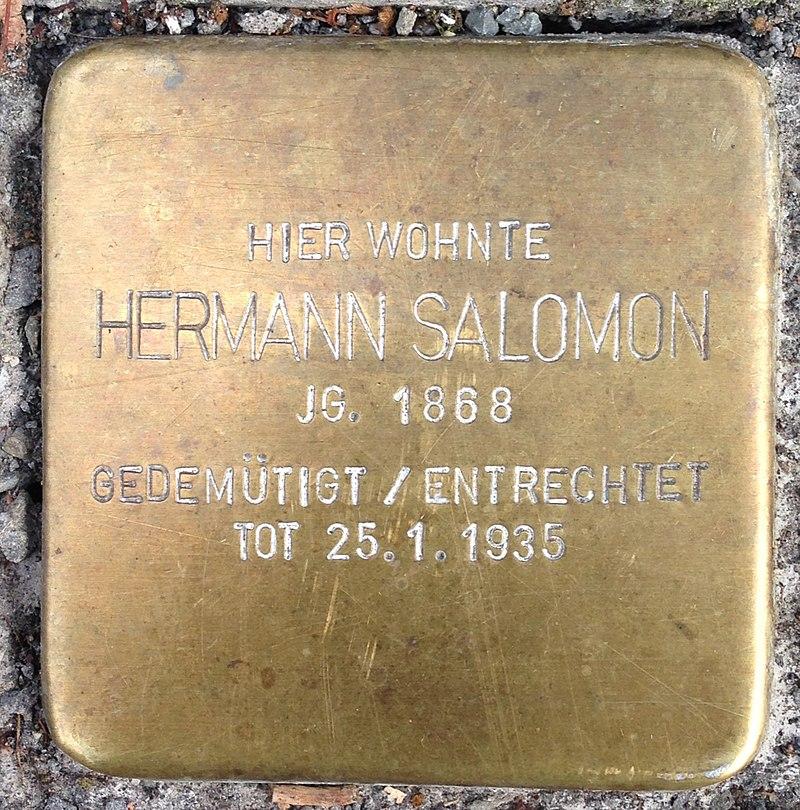 Stolperstein Waldbröl Hochstraße 30 Hermann Salomon