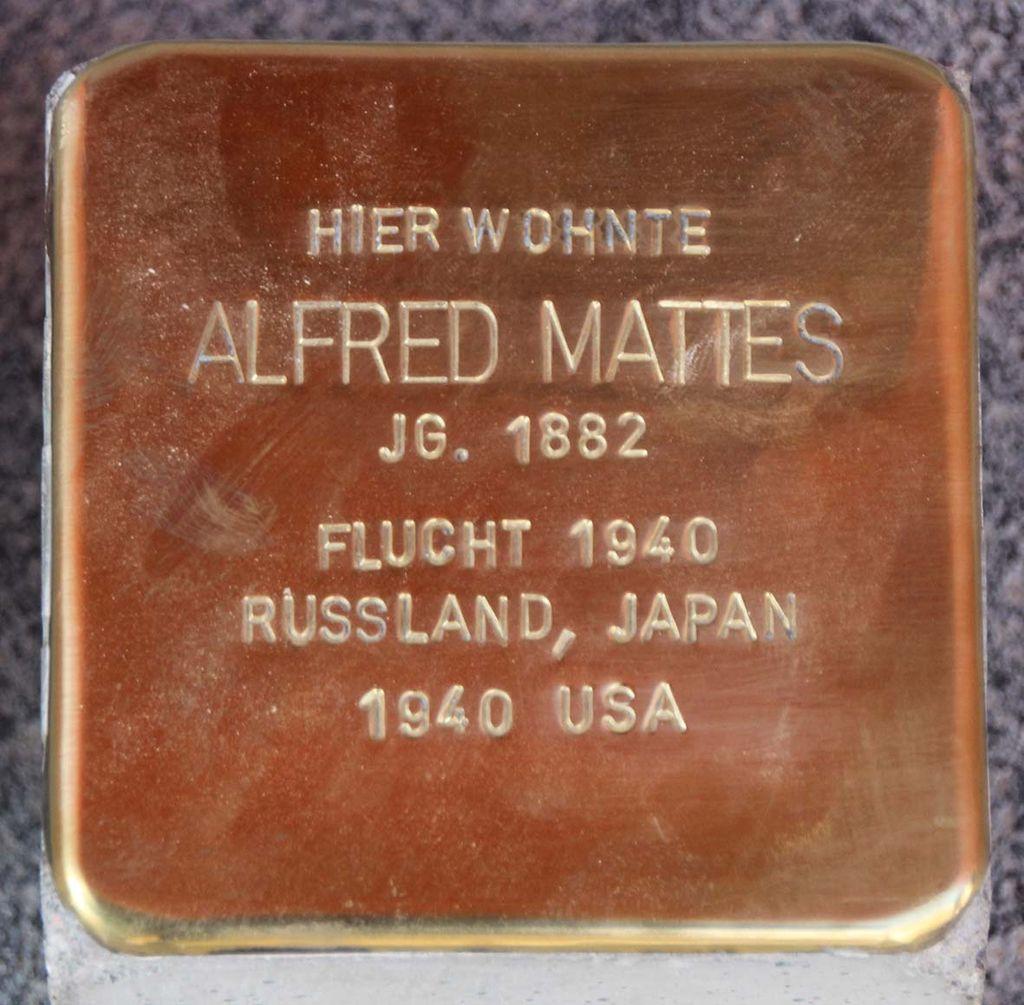 Stolperstein für Alfred Mattes