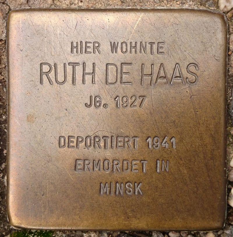 Stolpersteine Bremen – de Haas, Ruth.JPG