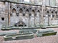 Stone coffins, Holyrood Abbey nave (geograph 3774780).jpg