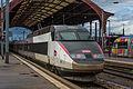 Strasbourg Gare Centrale voies 2 3 rames TGV 19 août 2013 04.jpg