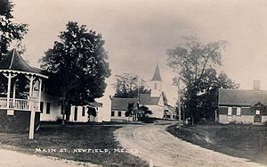 Newfield, Maine - Town center in 1915