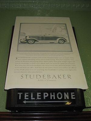 Studebaker Canada - Studebaker sign, De Luxe Restaurant, Dundas, Ontario