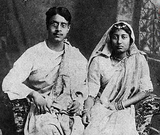 Sukumar Ray - Sukumar Ray with his wife Suprabha Ray (1914)