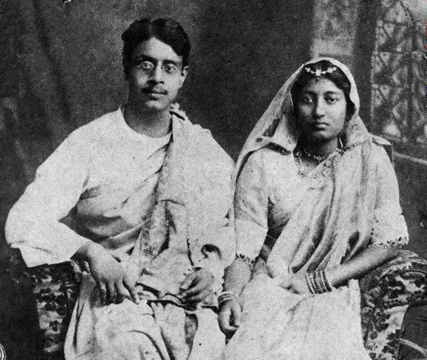 Sukumar Ray and his wife