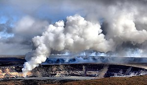 National Register of Historic Places listings in Hawaii - Kilauea Crater is in Hawaii Volcanoes National Park, a UNESCO World Heritage Site