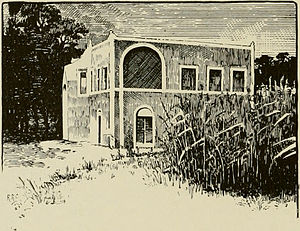 Sultanate of Lahej - Guest House of the Sultan of Lahej, from an 1898 photograph by Henry Ogg Forbes.