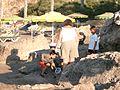 Sun beds and rocks Vlicha Beach near Lindos - panoramio.jpg