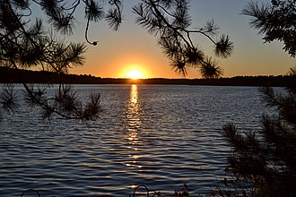 Lake Nebagamon, Wisconsin - Sunset in Lake Nebagamon