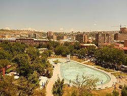 Swan lake with Yerevan panorama.jpg
