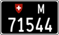 Swiss military license plate 71544 rear.png