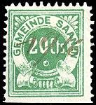 Switzerland Saanen revenue stamp 20c - 1.jpg