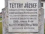 Téttry crucifix. Plaque. - Nagytétényi út, Budapest.JPG