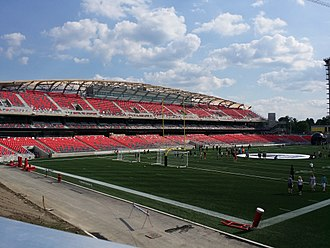 TD Place Stadium - The renovated TD Place Stadium; Summer, 2014