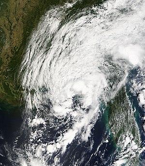 Tropical Depression Ten (2007) - Image: TD Ten 21 sept 2007 1650Z