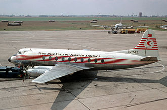 1959 Turkish Airlines Gatwick crash - A Turkish Airlines Viscount 700 similar to the accident aircraft