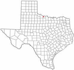 Location of Electra, Texas